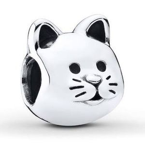 PANDORA Charm Curious Cat Sterling Silver
